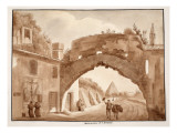 Foundations of the Aventine, 1833 Giclee Print by Agostino Tofanelli