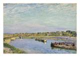 Le Port De Saint Mammes, Le Matin, 1885 Giclee Print by Alfred Sisley