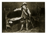 Cromwell Views the Body of Charles I Giclee Print by Hippolyte Delaroche