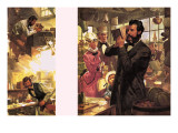 Alexander Graham Bell -- the First Telephone Call Giclee Print by  English School