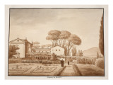 The Capuchin Monastery at Genzano, 1833 Giclee Print by Agostino Tofanelli