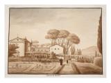The Capuchin Monastery at Genzano, 1833 Giclee Print by Agostino Tofanelli