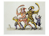 Two Jesters Playing with Children Giclee Print by  German School