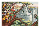 Robin Hood and His Merry Men Giclee Print by  English School