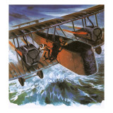 Alcock and Brown in their Vickers 'Vimy' Giclee Print by  English School