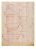 W.18V Study of Column Capitals Giclee Print by  Michelangelo Buonarroti