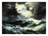Moonlit Shipwreck at Sea, 1901 Giclee Print by  Moran