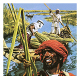 Men of the Marshes of Southern Iraq Giclee Print by  Payne