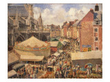 The Fair in Dieppe, Sunny Morning, 1901 Giclee Print by Camille Pissarro