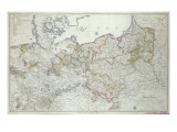 Map of the Prussian States in 1799 Giclee Print by  German School