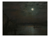 Southwark Bridge by Moonlight, 1882 Giclee Print by  Grimshaw