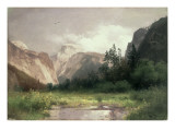 South Dome and Royal Arch, Yosemite Valley Giclee Print by Hermann Herzog