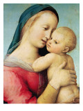 Detail of the 'Tempi' Madonna, 1508 Reproduction procédé giclée par  Raphael