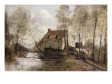 Le Moulin Brule, Planque, Near Douai Giclee Print by Jean-Baptiste-Camille Corot