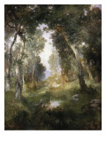 Forest Glade, Santa Barbara, 1918 Giclee Print by  Moran