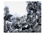 Pirate Gold, from 'The Treasure Hunters' Giclee Print by  Payne