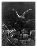 The Albatross Is Shot by the Mariner Giclee Print by Gustave Doré