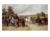 English Horse Fair on Southborough Common Giclee Print by John Frederick Herring Snr
