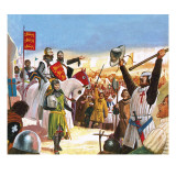 Richard the Lionheart Arriving at Acre Giclee Print by  Escott