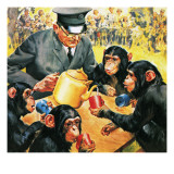 Who's Who at the Zoo: Tea for Four Giclee Print by McConnell