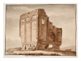 Temple of Fortuna Muliebre, 1833 Giclee Print by Agostino Tofanelli