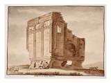 Temple of Fortuna Muliebre, 1833 Premium Giclee Print by Agostino Tofanelli
