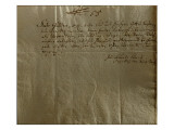 Remuneration Receipt, 17th December, 1704 Giclee Print by Johann Sebastian Bach