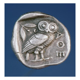 Athenian Tetradrachma Depicting the Owl of Athens Giclee Print by  Greek