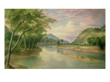 Ohio River Near Marietta, 1855 Giclee Print by Pratt 