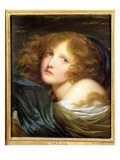 Head and Shoulders of a Young Woman Giclee Print by Jean-Baptiste Greuze