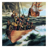 The Pilgrim Fathers: Men of the 'Mayflower' Giclee Print by Ron Embleton