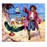 Long John Silver and His Parrot Giclee Print by McConnell