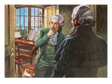 Mozart and the Mysterious Stranger Giclee Print by Payne 