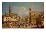 Badia Fiorentina and the Bargello, Florence Giclee Print by Giuseppe Zocchi