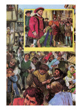Riot of the Apprentices in May 1517 Giclee Print by Clive Uptton