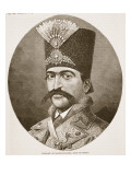 Portrait of Nasser-Ed-Deen, Shah of Persia Giclee Print by  English School