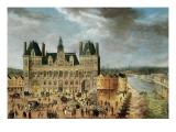 The Hotel De Ville, Place De Greve Giclee Print by  Flemish School