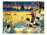 Loy Krathong Festival in Bangkok Giclee Print by  Mcbride