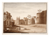 The Old Porta Nomentana, 1833 Giclee Print by Agostino Tofanelli