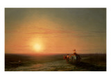 Peasants Returning from the Fields at Sunset Giclee Print by Ivan Konstantinovich Aivazovsky