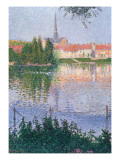 The Island at Lucas Near Les Andelys Lámina giclée por Paul Signac