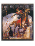 Robin Hood Being Chased by Norman Soldiers Giclee Print by John Millar Watt