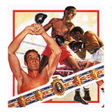 Boxing, with Portrait of Henry Cooper Giclee Print by Andrew Howat