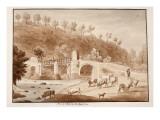 Ponte Aquoria, or Aqua D'Oro, 1833 Giclee Print by Agostino Tofanelli