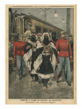 Moussa Ag Amastane Arriving in Paris Giclee Print by  French School