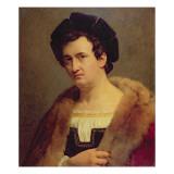 Portrait of Francois Joseph Talma Giclee Print by Francois Edouard Picot