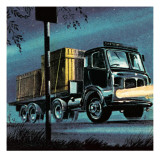 Lorry Belonging to State-Owned British Road Services Giclee Print by  Escott