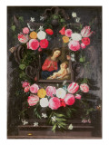 The Virgin and Child in a Cartouche Giclee Print by Jan Van, The Elder Kessel