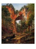 A Natural Bridge, Virginia, 1860 Giclee Print by David Johnson