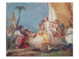 Cronus Entrusting Cupid to Venus Giclee Print by Giovanni Battista Tiepolo